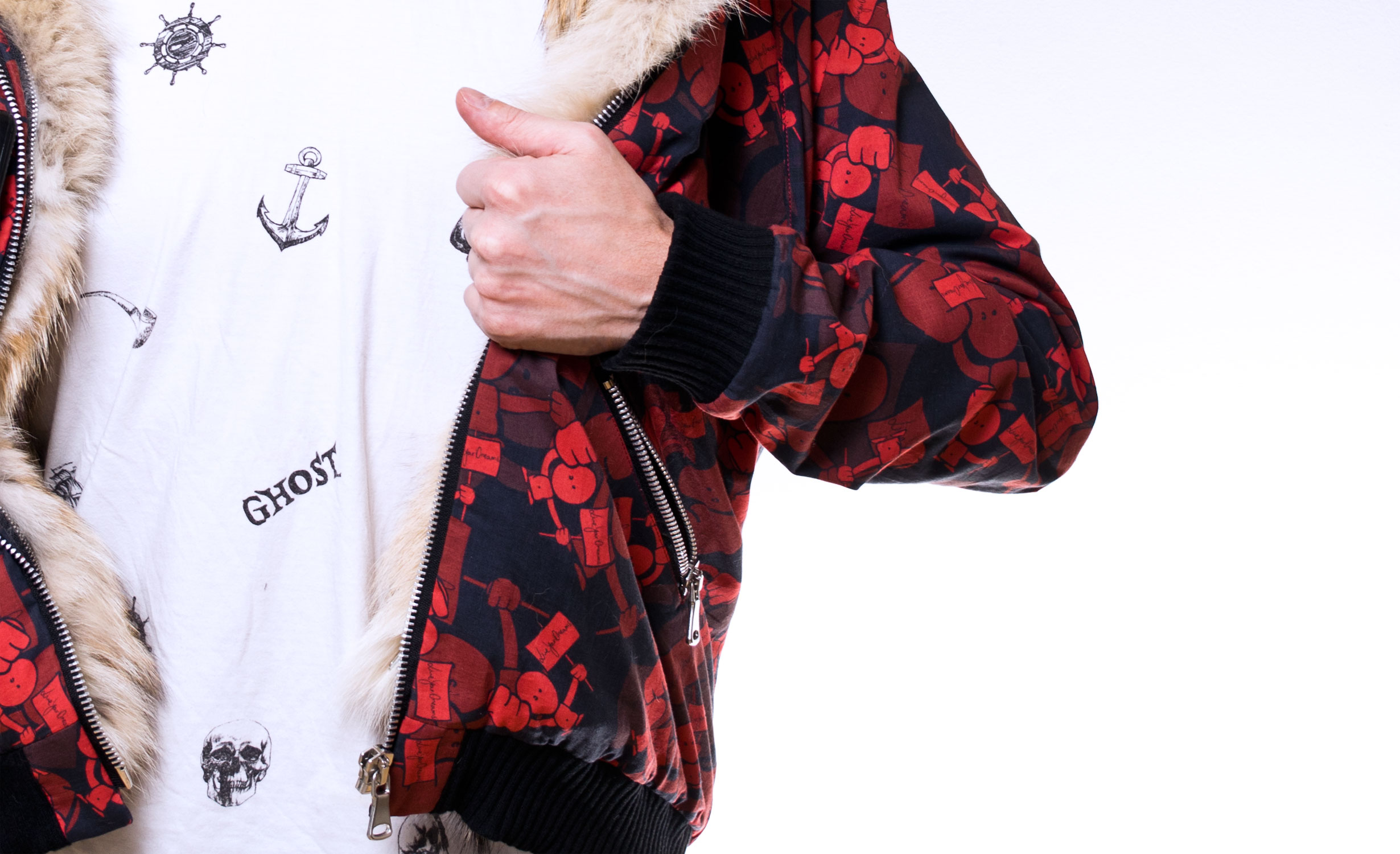 The Hoodie - Details - Real fur lining